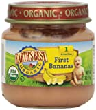 Earth's Best First Bananas, Og, 2.50-Ounce (Pack of 12)