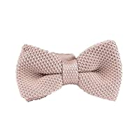 Men's Knit Bow Tie - Solid Color Pretied Fully Adjustable