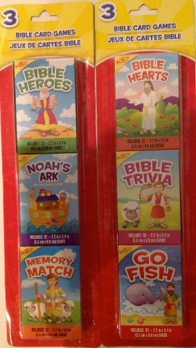 Bumper Pack of Six Children's Educational Christian Bible Card Games