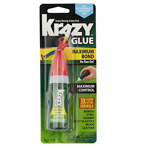 - Elmer's Krazy Glue Maximum Bond Super Glue, No-Run Gel, Maximum Control, 4-Gram (KG49048MR)