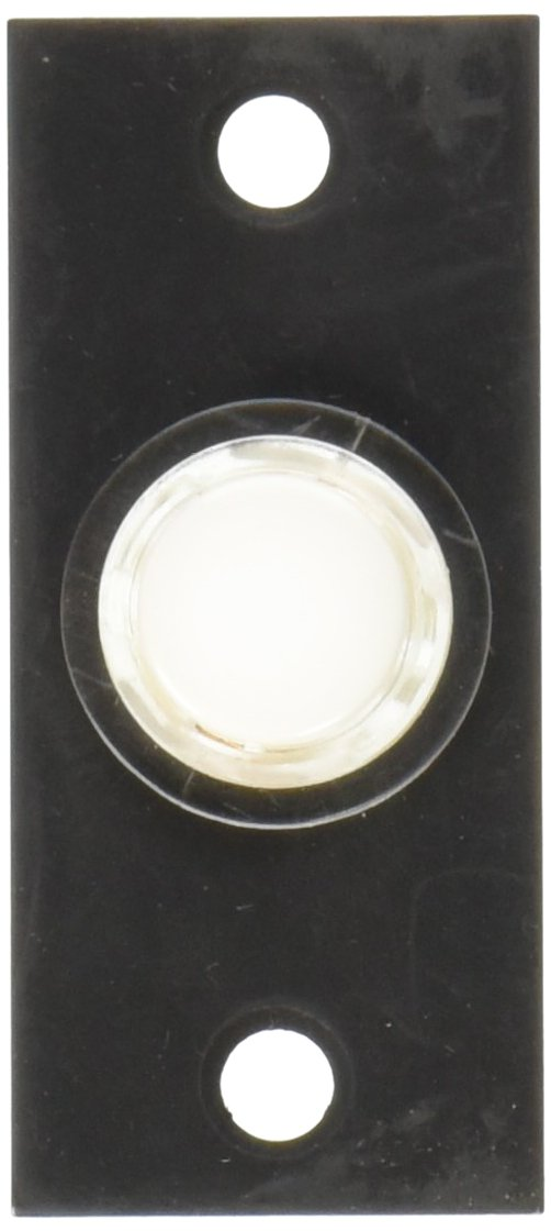 Baldwin 4853402 Rectangular Bell Button, Distressed Oil Rubbed Bronze