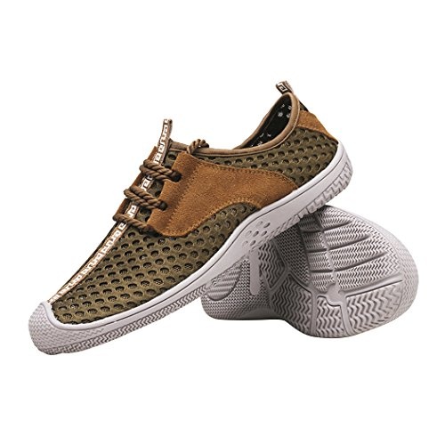 Sun Lorence Men's Summer Lace-up Hollow-Out Running Shoes Outdoor Sports Casual Breathable Mesh Sneakers Brown fast delivery cheap online stMKI3