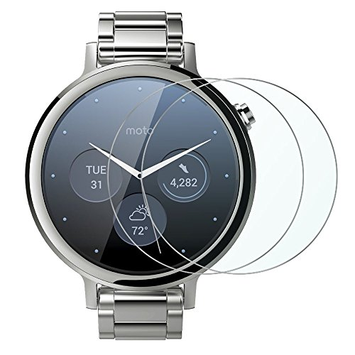 Wimaha Motorola Moto 360 2nd Gen Womens 42mm Screen Protectors 2 Pack Tempered Glass Screen Protector for Moto 360 2nd Generation Womens 42mm Only