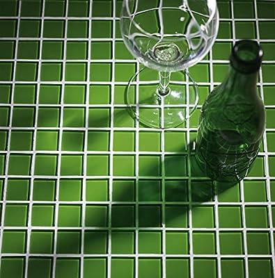 Malla de Mosaico de Cristal 30x30cm Color Verde: Amazon.es: Jardín