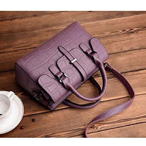 tout sac sacs à mode de main à de sac gaufré Zll à sauvage femmes violet bandoulière bandoulière fourre sac cuir sac en femmes znXPqPWIA