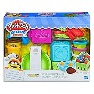Play-Doh - Kitchen Creations - Grocery Goodies - Inc 22 Acc & 7 Tubs of Dough - Creative Kids Toys - Ages 3+