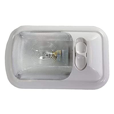 Kaper II RV Single Interior Dome Light with Incandescent 1141 Bulb, White HOUSING and Clear Polycarbonate Lens with Switch: Automotive [5Bkhe0403461]