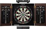 Viper Stadium Cabinet & Shot King Sisal/Bristle Dartboard Ready-to-Play Bundle: Elite Set (Shot King Dartboard, Darts,...