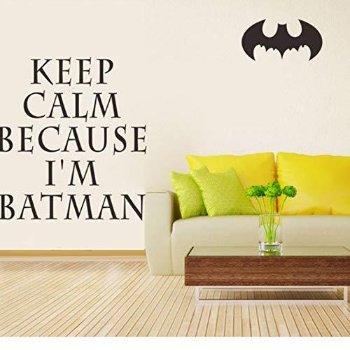 luludsoo Mantenga la Calma Inglés Batman Superman Spider Etiqueta ...