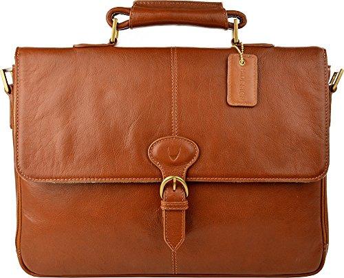 8de03a135749 Hidesign Parker 01 Briefcase Bag - Laptop Bag - Messenger Bag - For Men - Travel  Bag - With Fixed   Adjustable Leather Shoulder Strap - Casual Travel - For  ...