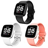 CreateGreat For Fitbit Versa Bands, Accessory Sport Band for Men Women,Replacement Straps for Fitbit Versa Small Large 3 Pack