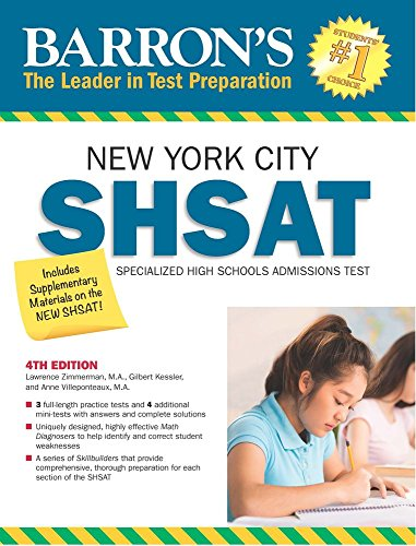 Barron's SHSAT, 4th Edition: New York City Specialized High Schools Admissions Test