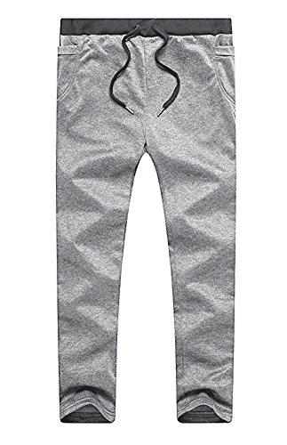 Boy's Slim Fit Skinny Cotton Running Jogger Pants (8 Slim, Light (Cotton Skinny Pants)