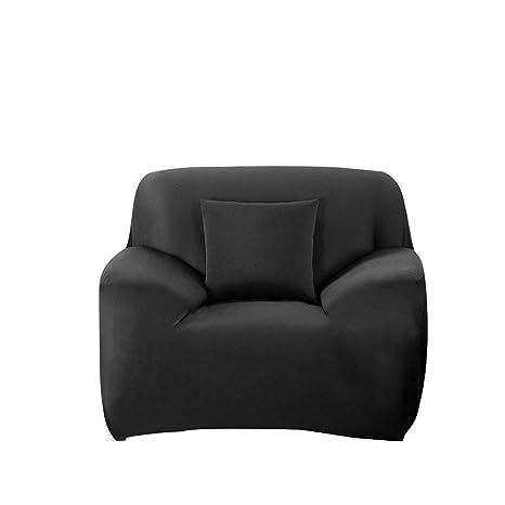FORCHEER Funda de Sofá Elástica Protector para Sofás Cubre Sofá Universal - 1 Plazas (90-135cm) Negro