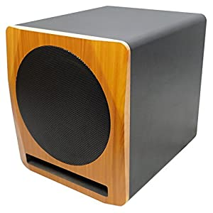 "Rockville APM10C 400W Powered/Active Studio Subwoofer Pro Reference Sub, 10"", Cherry"