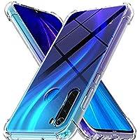 Ferilinso Funda Para Xiaomi Redmi Note 8 Funda,[Reforzar la versión con cuatro esquinas][Funda protectora de la cámara]Funda protectora de silicona de piel de goma TPU a prueba de goma (Transparente)