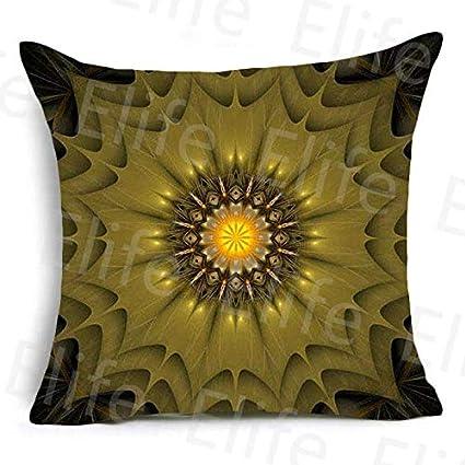 Amazon.com: Elife Polyester Frida Kahlo Cushion Cover Square ...