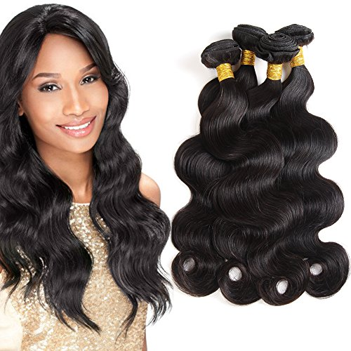 Brazilian Virgin Weave Hair Body Wave 3 Bundles 300g by Jiameisi Hair 100% Unprocessed Remy Human Hair Extensions