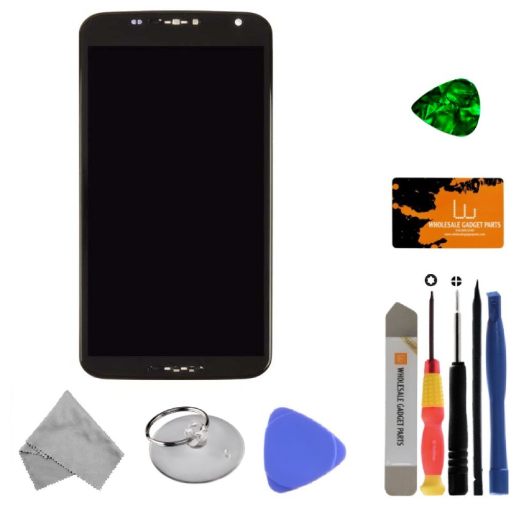 LCD, Digitizer & Frame Assembly for Motorola XT1103 Nexus 6 (Black) with Tool Kit