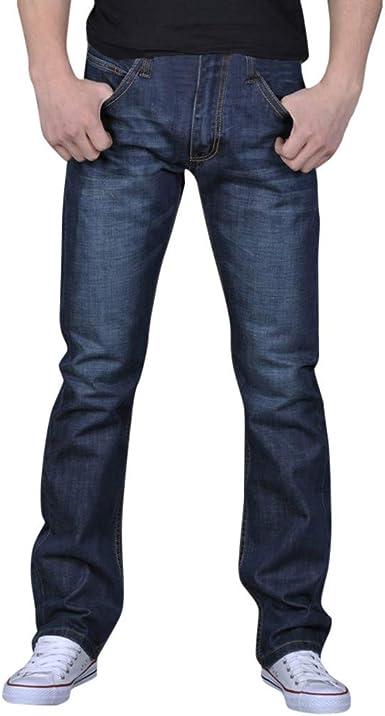 Suelto Vaqueros Hombre Moda Talla Grande Hip Hop Mezclilla Pantalones Casual Baggy Rectos Pantalones Corte Ajustado Tejanos Anchos Pantal/óN Straight Jeans