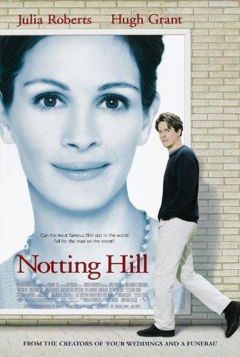 póster de la película romántica contemporánea Notting hill