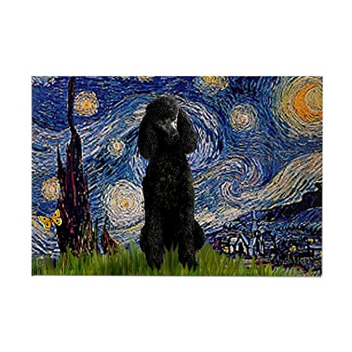 CafePress - Starry Night Black Poodle Rectangle Magnet - Rectangle Magnet, 2