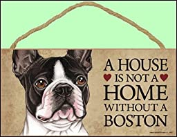 1 X A house is not a home without Boston Terrier Dog - 5\