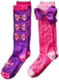 JoJo Siwa Big Girl's 2 Pack Knee High, purple bow, Fits Sock Size 9-11 Fits Shoe Size 4-10.5: more info