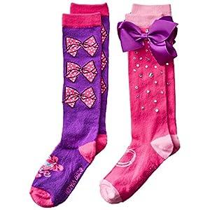 JoJo Siwa Girls 2 Pack Knee High Socks
