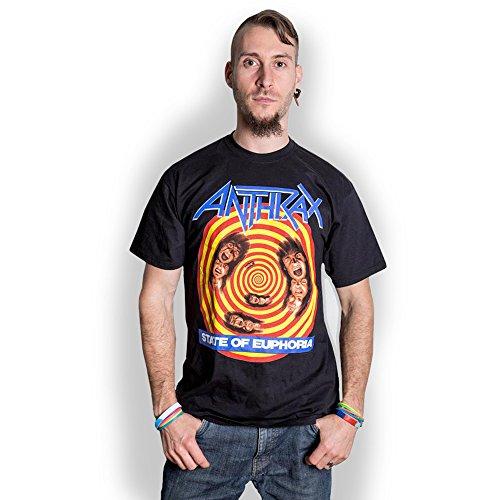 Anthrax State of Euphoria Scott Ian Thrash Metal offiziell Männer T-Shirt Herren