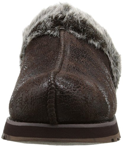 Skechers Keepsakes - Winter Wonder - Zapatillas de estar por casa de sintético para mujer Chocolate