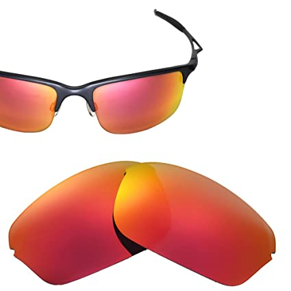 44bab678e10 Cofery Replacement Lenses for Oakley Half Wire 2.0 Sunglasses - Multiple  Options Available (Fire Red