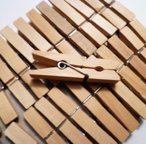 (Sturdy Small Craft Clothespins 1 3/4