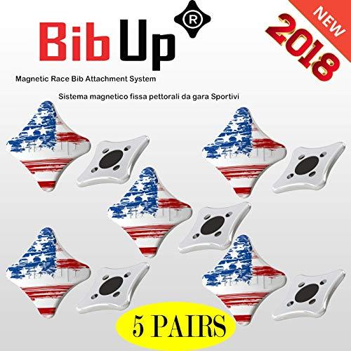 BIBUP 3.0 Magnetic RaceBib Fixing System (America Vintage)