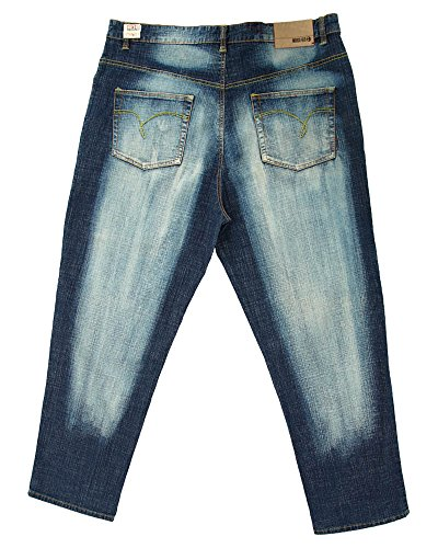 Jeans Uomo Rosso Indaco Indaco Rosso Zombie