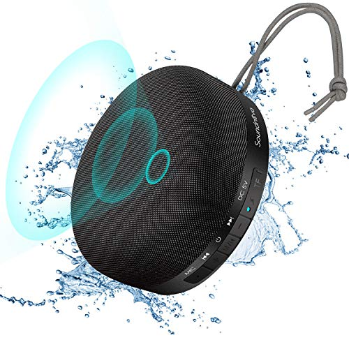 Find Cheap 【Travel Case Included】 6W Soundnova 3D Bass Shower Bluetooth Speaker, IPX4 Waterproof...