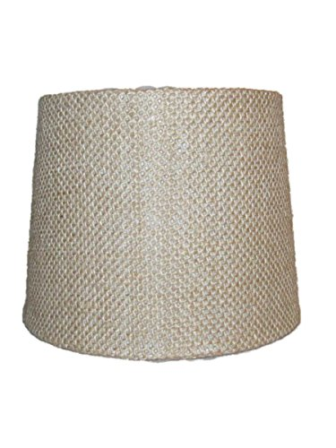 Upgradelights Set of Six – 6 Inch Barrel Drum Chandelier Shades in Natural Burlap Fabric 5x6x5