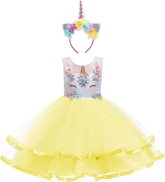 OwlFay Bebe Niña Tutu Princesa Vestido de Unicornio Cumpleaños ...
