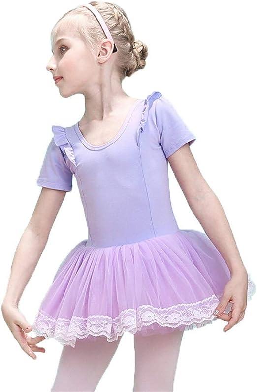 Los niños bailan trajes de vestir Niños Chicas Manga corta Tul ...