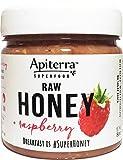 Raspberry Honey - Raw Honey with Raspberry - 32 Ounce, 4 Count