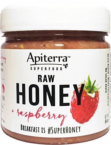 Raspberry Honey - Raw Honey with Raspberry - 32 Ounce, 4 - Honey Raspberry