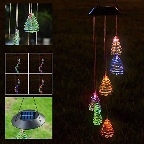Solar Outdoor Lighting Inc (Koval Inc. Outdoor Solar LED Light Wind Chime Décor Lighting (Christmas Tree))