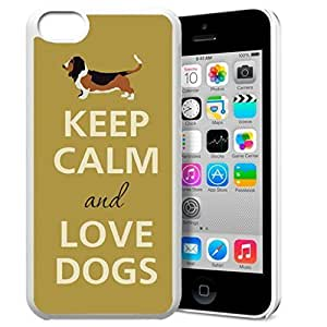 diy phone caseKeep Calm and Love Dogs Pattern HD Durable Hard Plastic Case Cover for iphone 6 plus 5.5 inch Design By GXFC Casediy phone case