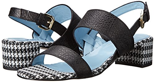 Women's Patterned Sandal white Pollini Black Heel Studio Dress 5UaREqEw