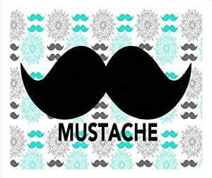 Mustache Mouse Pad,Personalized Floral Mouse Pad