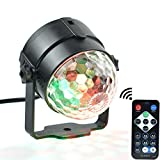 Alotm Led Party Strobe lights Flash Dance Light 3w Disco Ball DJ Lights 7 Color Sound Actived Lamp Karaoke Machine for Kids Birthday Night Light Gift Stage Home Holiday Parties Supplies