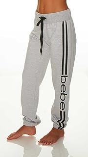 bebe Womens French Terry Jogger Lounge Sleep Sweatpants Pajamas