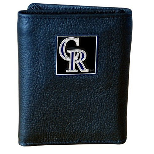 MLB Colorado Rockies Genuine Leather Tri-fold Wallet ()