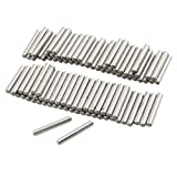 uxcell 100 Pcs Stainless Steel 2.5mm x 15.8mm Dowel Pins Fasten Elements