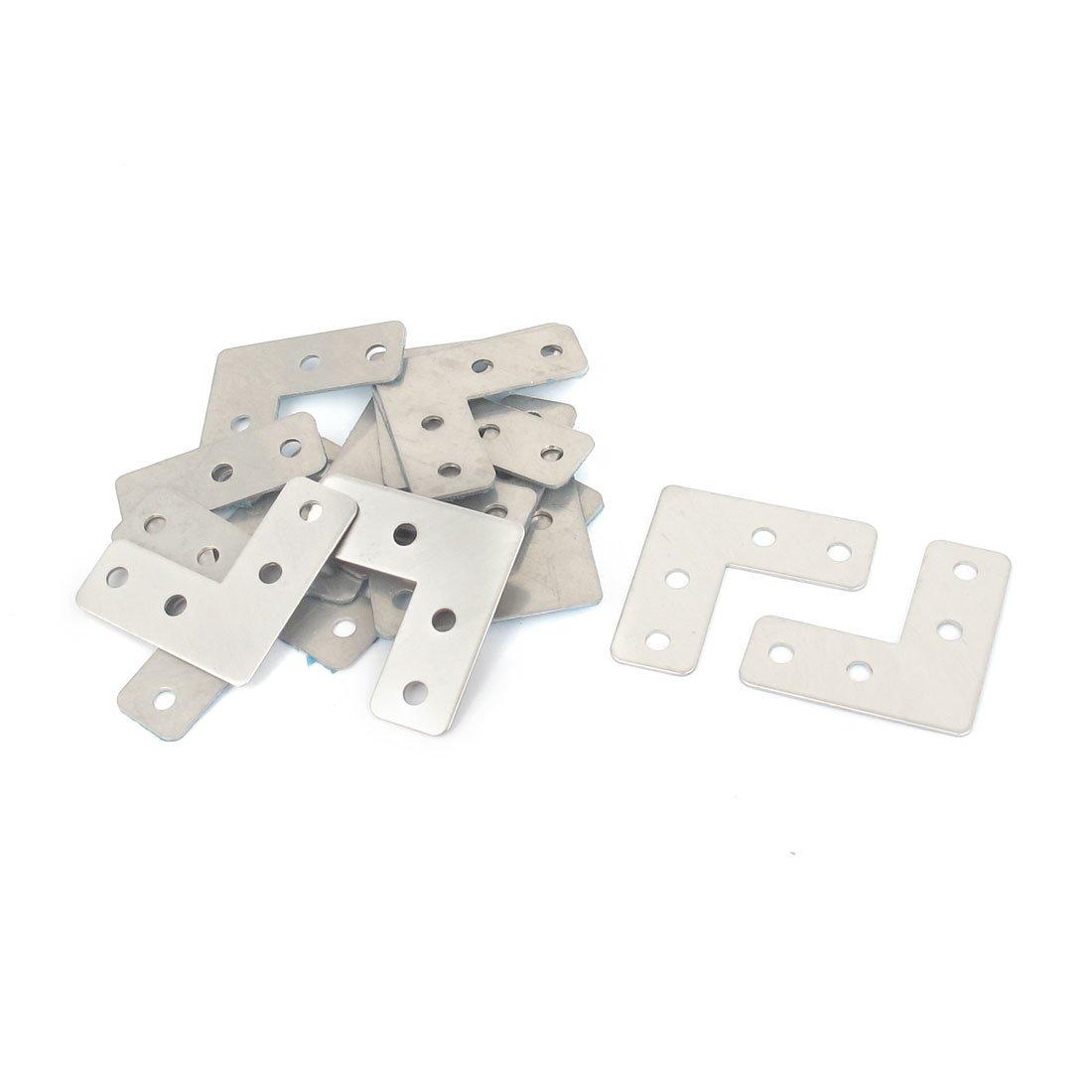 uxcell Angle Plate Corner Brace Flat L Shape Repair Bracket 40 x 40mm 50 Pcs